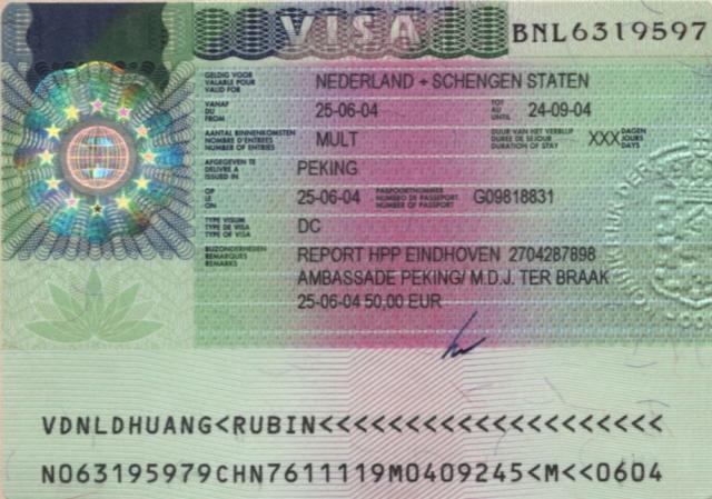 Виза в голландию получение визы в